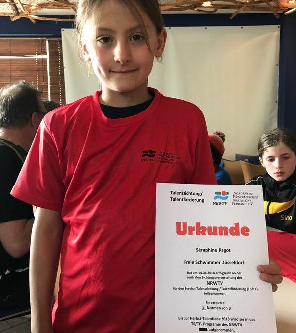 Séraphine ist im Triathlonnachwuchskader des TV NRW