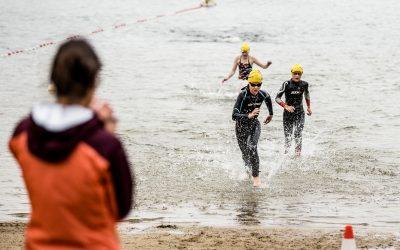 Freie Schwimmer beim U-See-Schwimmen